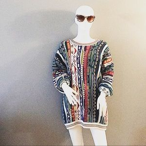 Coogie like (cotton traders multi colored sweater)